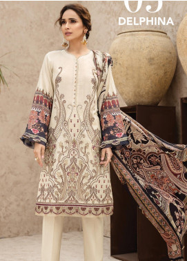 IRIS by Jazmin Embroidered Lawn Unstitched 3 Piece Suit JZ20I 5 - Summer Collection