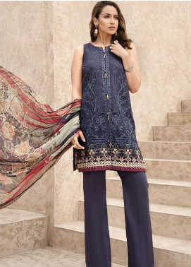 IRIS by Jazmin Embroidered Lawn Unstitched 3 Piece Suit JZ20I 6 - Summer Collection