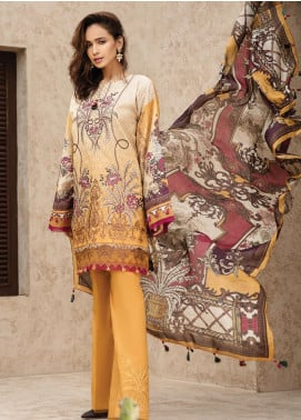 IRIS by Jazmin Embroidered Lawn Unstitched 3 Piece Suit JZ20I 7 - Summer Collection