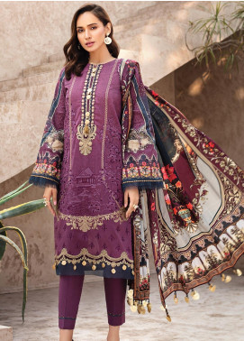 IRIS by Jazmin Embroidered Lawn Unstitched 3 Piece Suit JZ20I 8 - Summer Collection
