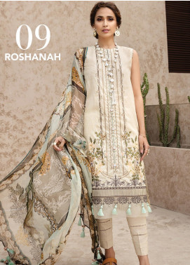 IRIS by Jazmin Embroidered Lawn Unstitched 3 Piece Suit JZ20I 9 - Summer Collection