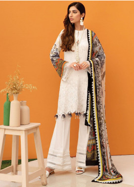 IRIS by Jazmin Embroidered Lawn Unstitched 3 Piece Suit JZ20-I2 01 NURGUL - Summer Collection