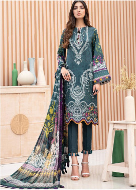 IRIS by Jazmin Embroidered Lawn Unstitched 3 Piece Suit JZ20-I2 02 FAREESA - Summer Collection