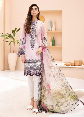 IRIS by Jazmin Embroidered Lawn Unstitched 3 Piece Suit JZ20-I2 03 NILUFER - Summer Collection
