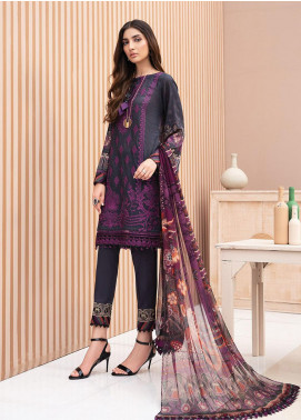 IRIS by Jazmin Embroidered Lawn Unstitched 3 Piece Suit JZ20-I2 04 LUNARA - Summer Collection