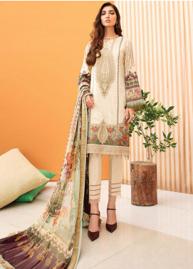 IRIS by Jazmin Embroidered Lawn Unstitched 3 Piece Suit JZ20-I2 05 AYLA - Summer Collection
