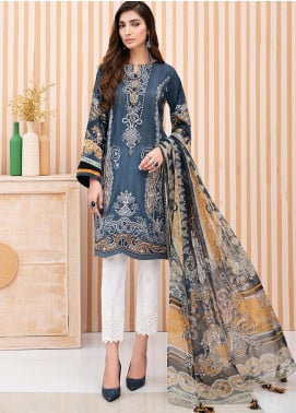IRIS by Jazmin Embroidered Lawn Unstitched 3 Piece Suit JZ20-I2 06 MIRAL - Summer Collection