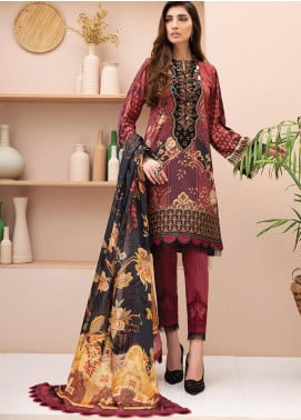 IRIS by Jazmin Embroidered Lawn Unstitched 3 Piece Suit JZ20-I2 07 DILARA - Summer Collection