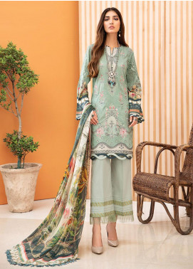 IRIS by Jazmin Embroidered Lawn Unstitched 3 Piece Suit JZ20-I2 08 MELIS - Summer Collection