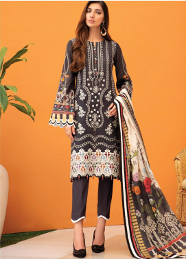 IRIS by Jazmin Embroidered Lawn Unstitched 3 Piece Suit JZ20-I2 09 SEYAL - Summer Collection