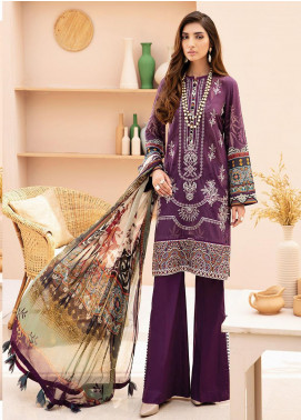 IRIS by Jazmin Embroidered Lawn Unstitched 3 Piece Suit JZ20-I2 10 ALANYA - Summer Collection
