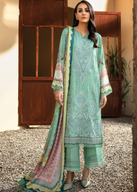 IRIS VIRSA by Jazmin Embroidered Linen Unstitched 3 Piece Suit JZ20IV 07 Farozaan - Winter Collection