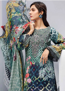 Iris Jazmin Embroidered Lawn Unstitched 3 Piece Suit IRJ18L 01 - Festive Collection