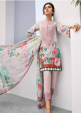 Iris Jazmin Embroidered Lawn Unstitched 3 Piece Suit IRJ18L 02 - Festive Collection