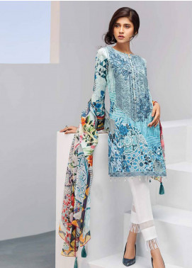 Iris Jazmin Embroidered Lawn Unstitched 3 Piece Suit IRJ18L 05 - Festive Collection