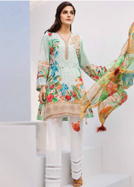 Iris Jazmin Embroidered Lawn Unstitched 3 Piece Suit IRJ18L 06 - Festive Collection