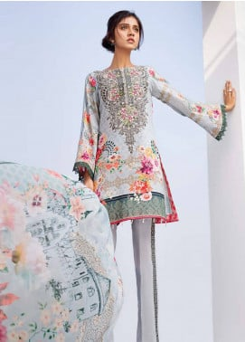 Iris Jazmin Embroidered Lawn Unstitched 3 Piece Suit IRJ18L 07 - Festive Collection