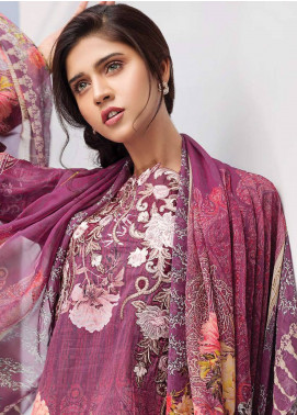Iris Jazmin Embroidered Lawn Unstitched 3 Piece Suit IRJ18L 08 - Festive Collection
