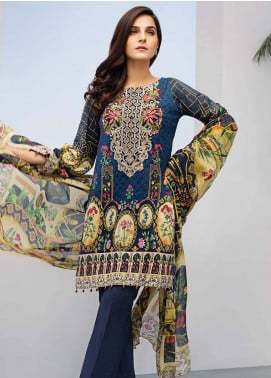 Iris Jazmin Embroidered Lawn Unstitched 3 Piece Suit IRJ18L 10 - Festive Collection