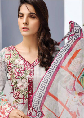 Iris Jazmin Embroidered Lawn Unstitched 3 Piece Suit IRJ18L 12 - Festive Collection