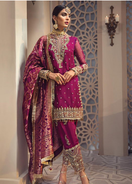 Anaya By Kiran Chaudhry Embroidered Organza Unstitched 3 Piece Suit AKC19WC 01 SHIRIN - Wedding Collection