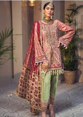 Anaya By Kiran Chaudhry Embroidered Zari Net Unstitched 3 Piece Suit AKC19WC 04 SHAHBANO - Wedding Collection