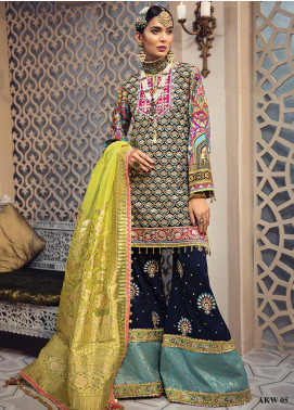 Anaya By Kiran Chaudhry Embroidered Chiffon Unstitched 3 Piece Suit AKC19WC 05 LAILA - Wedding Collection