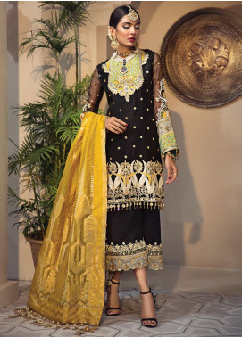 Anaya By Kiran Chaudhry Embroidered Organza Unstitched 3 Piece Suit AKC19WC 07 MAHNAZ - Wedding Collection