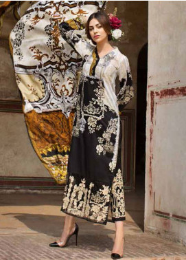 Ittehad Textiles Embroidered Lawn Unstitched 3 Piece Suit IT18L DAINTY CLOUD B - Spring / Summer Collection