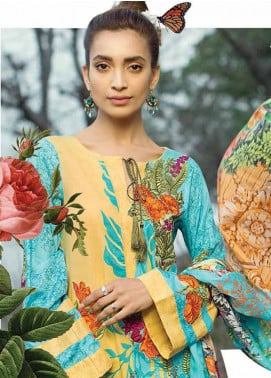 Ittehad Textiles Embroidered Lawn Unstitched 3 Piece Suit IT18L FLORID COPPICE A - Spring / Summer Collection