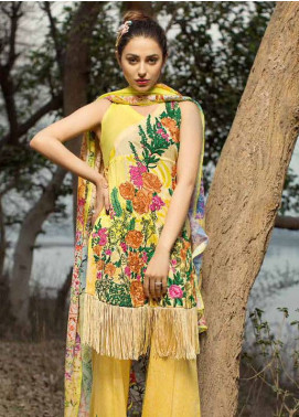 Ittehad Textiles Embroidered Lawn Unstitched 3 Piece Suit IT18L FLORID COPPICE B - Spring / Summer Collection