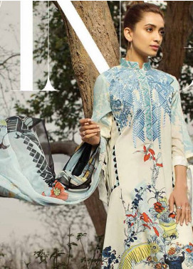 Ittehad Textiles Embroidered Lawn Unstitched 3 Piece Suit IT18L FRAGANT FLEUR B - Spring / Summer Collection