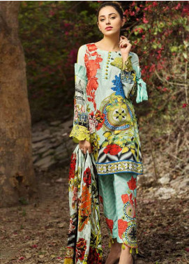 Ittehad Textiles Embroidered Lawn Unstitched 3 Piece Suit IT18L ICY MORN A - Spring / Summer Collection