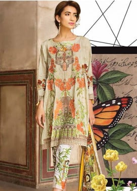Ittehad Textiles Embroidered Lawn Unstitched 3 Piece Suit IT18L NASTURTIUM A - Spring / Summer Collection