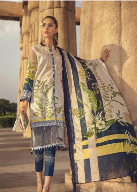 Ittehad Textiles Embroidered Lawn Unstitched 3 Piece Suit ITE19-L2 DEEPWISTERIA - Summer Collection