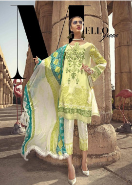 Ittehad Textiles Embroidered Lawn Unstitched 3 Piece Suit ITE19-L2 MELLOW GREEN - Summer Collection