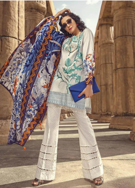 Ittehad Textiles Embroidered Lawn Unstitched 3 Piece Suit ITE19-L2 MORNING MIST - Summer Collection