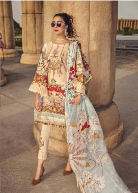 Ittehad Textiles Embroidered Lawn Unstitched 3 Piece Suit ITE19-L2 PEARLED IVORY - Summer Collection