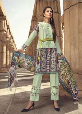 Ittehad Textiles Embroidered Lawn Unstitched 3 Piece Suit ITE19-L2 PERSIAN TREILLAGE - Summer Collection