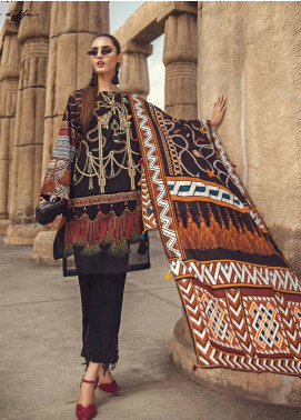 Ittehad Textiles Embroidered Lawn Unstitched 3 Piece Suit ITE19-L2 RAVEN GOLD - Summer Collection