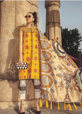 Ittehad Textiles Embroidered Lawn Unstitched 3 Piece Suit ITE19-L2 ZINNIA - Summer Collection