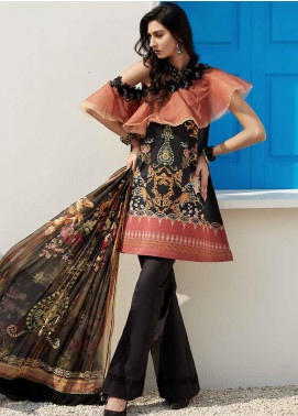 Ittehad Textiles Sarang Printed Lawn Unstitched 3 Piece Suit ITD20SR RAVEN GOLD - Spring / Summer Collection