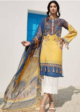 Ittehad Textiles Sarang Printed Lawn Unstitched 3 Piece Suit ITD20SR YELLOW ARCHANGEL - Spring / Summer Collection
