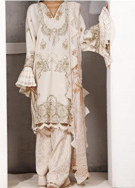 Ethnic Bloom by Ittehad Textiles Embroidered Raw Silk Unstitched 3 Piece Suit ITD20W 2 Vivid Tangrine - Winter Collection