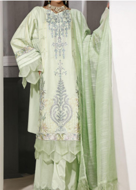 Ethnic Bloom by Ittehad Textiles Embroidered Jacquard Unstitched 3 Piece Suit ITD20W 3 Jazzberry Jam - Winter Collection