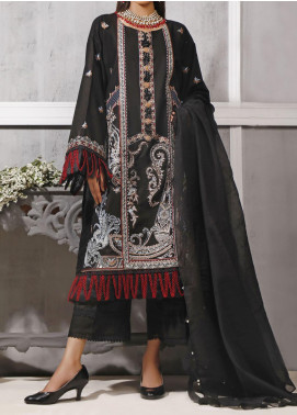 Ethnic Bloom by Ittehad Textiles Embroidered Cotton Satin Unstitched 3 Piece Suit ITD20W 4 Midnight Fire - Winter Collection