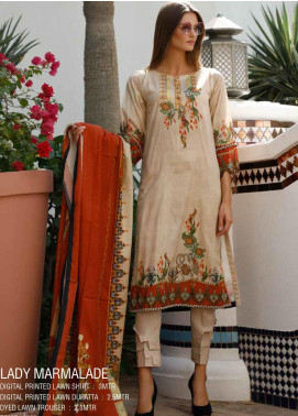 Ittehad Textiles Printed Lawn Unstitched 3 Piece Suit ITD20DL 002 LADY MARMALADE - Summer Collection