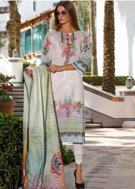 Ittehad Textiles Printed Lawn Unstitched 3 Piece Suit ITD20DL 003 SUMMER GARDEN - Summer Collection