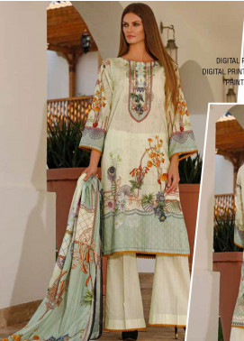 Ittehad Textiles Printed Lawn Unstitched 3 Piece Suit ITD20DL 004 TANGY BLOOM - Summer Collection