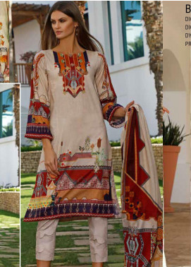 Ittehad Textiles Printed Lawn Unstitched 3 Piece Suit ITD20DL 005 GEOMETRIC CLOUD - Summer Collection